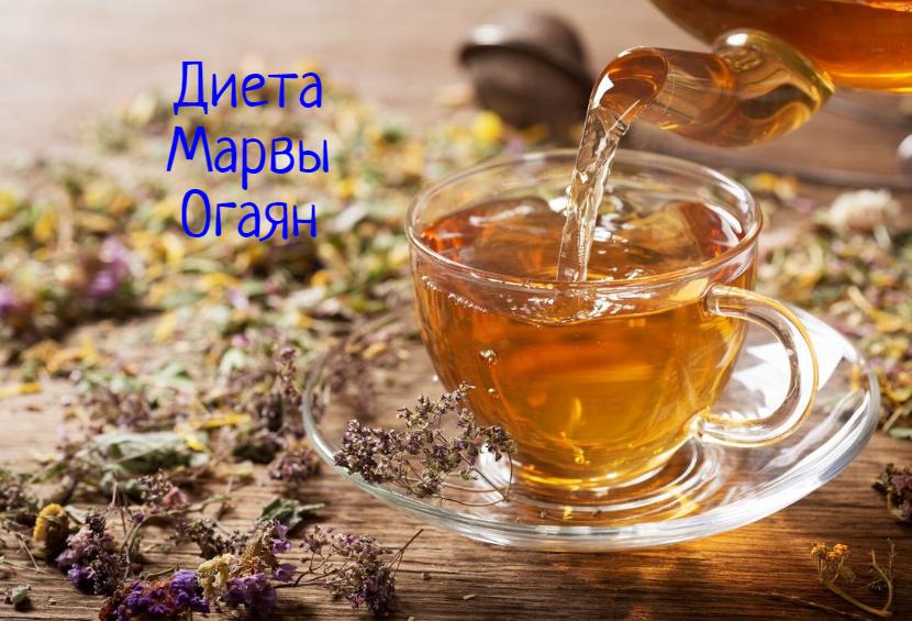 Диета Марвы Огаян травяные чаи