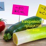 Правильное питание – рекомендации специалистов, таблица калорийности продуктов